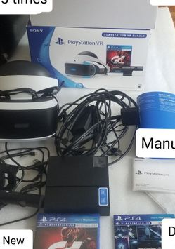 PsVr Set For PS4. Games Cost Extra. Price Firm. for Sale in Charlottesville,  VA