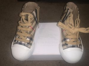 Burberry Kids - Vintage Check and Leather High-top Sneakers for Sale in Monroeville, PA