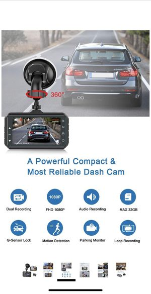 Dash Cam Front and Rear CHORTAU Dual Dash Cam 3 inch Dashboard Camera Full HD 170° Wide Angle Backup Camera with Night Vision WDR G-Sensor Parking Mo for Sale in Chula Vista, CA