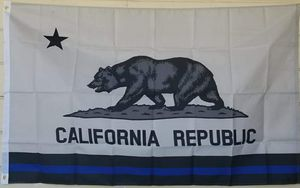 California Republic Thin Blue Line Flag size 3ftx5ft for Sale in Colton, CA