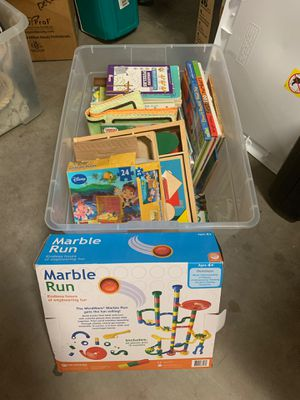 whole box of kids puzzles and games for Sale in Scottsdale, AZ
