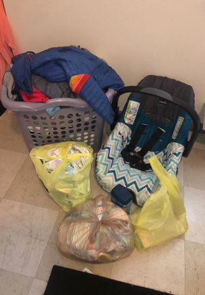Newborn-9months Baby Winter Clothing,Car seat & base ,diapers etc. for Sale in Columbus, OH