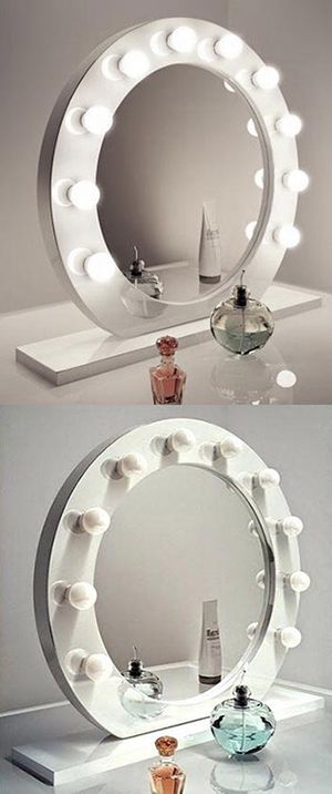 "(New in box) $160 White 28"" Vanity Mirror w/ 10 Dimmable LED Light Bulbs, Hollywood Beauty Makeup USB Outlet for Sale in Whittier, CA"