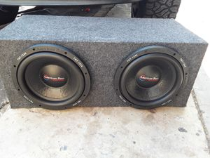 "300$ subs American Bass 12"" 600rms 1200peak 4ohm dual coil each for Sale in Phoenix, AZ"