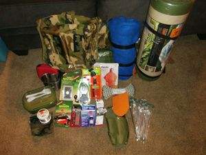 (NEGOTIABLE $) Camping/ Survival Gear - Full Package - Brand New for Sale in Denver, CO