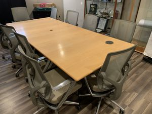 Conference Room Table and Ten Chairs for Sale in Washington, DC