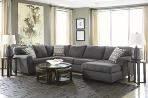 [SPECIAL] Sorenton Slate RAF Sectional | SAME DAY DELIVERY for Sale in Fort Worth, TX