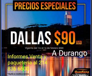 Viajes de Dallas a Durango for Sale in Dallas, TX