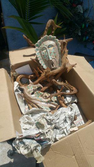 Driftwood mask art for Sale in Fort Pierce, FL