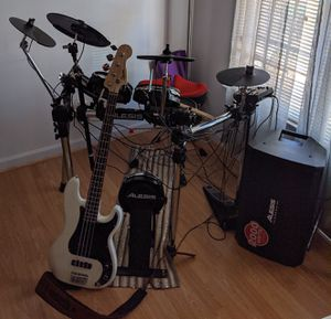 1,500 Alexis Electric Drums and Fender Bass for Sale in Durham, NC
