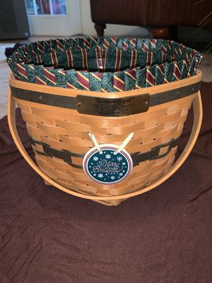 1997 Longaberger Christmas Basket- Snowflake Combo for Sale in Orlando, FL