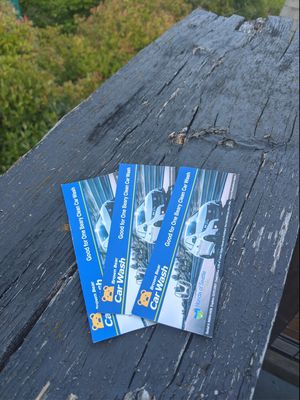 3x Brown Bear Beary Clean Car Wash Vouchers for Sale in Seattle, WA