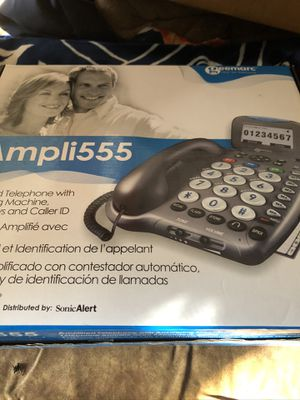 Amplii555 Amplified telephone with answering machine and caller ID for Sale in Wheat Ridge, CO