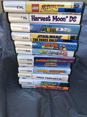Nintendo DS game Lot Mario yoshi Starfox wario final fantasy and more for Sale in El Monte, CA