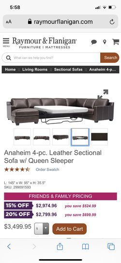 This is a brown sectional 8 months old moved to a smaller place and it doesn't fit it's also a queen sleeper as you can see what I paid I'm asking $2 for Sale in Tampa,  FL