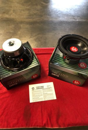 2 Brand new DLS OA10inch 4 ohm single voice coil subwoofer for Sale in Riverside, CA