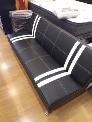 Black and White Striped Futon Bed for Sale in Santa Monica, CA