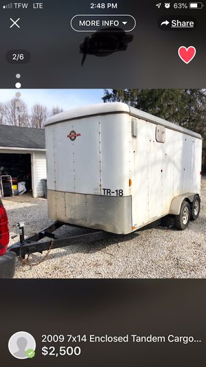 Enclosed trailer 7x14 double axel for Sale in Cleveland, OH