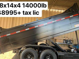 Dump trailer HD 8x12x4 10400 lb gvw $5950 not finance Hd 8x14x4 available for Sale in Whittier,  CA