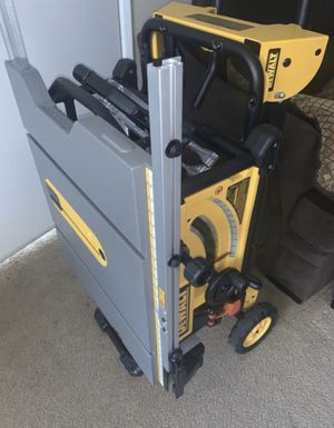 """DEWALT 10"""" TABLE SAW with ROLLING STAND for Sale in La Verne, CA"""