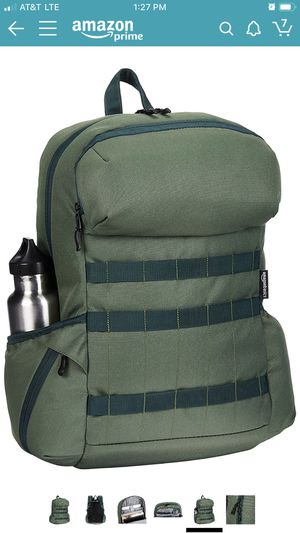 AmazonBasics Canvas Laptop Backpack Bag for up to 15 Inch Laptops - Forest Green for Sale in Culver City, CA