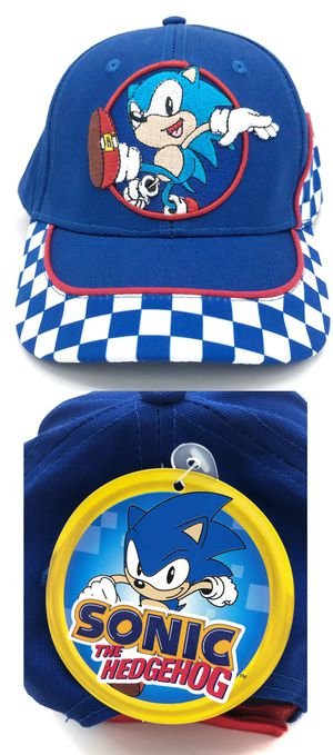 Brand NEW! Youth Sonic the Hedgehog velcro adjustable hat kid's baseball cap video game cartoon anime characters Sega for Sale in Carson, CA