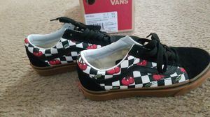 Cherry checker old skool Vans men's size 5.5/ women's 7 for Sale in Elk Grove, CA