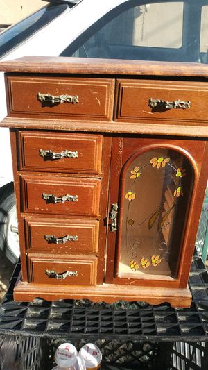 Antique flower designer jewlery mini cabinet for Sale in Los Angeles, CA