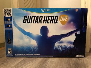 Guitar Hero Bundle (Nintendo Wii U) Controller and Game Les Paul Model Open Box for Sale in Carmichael, CA