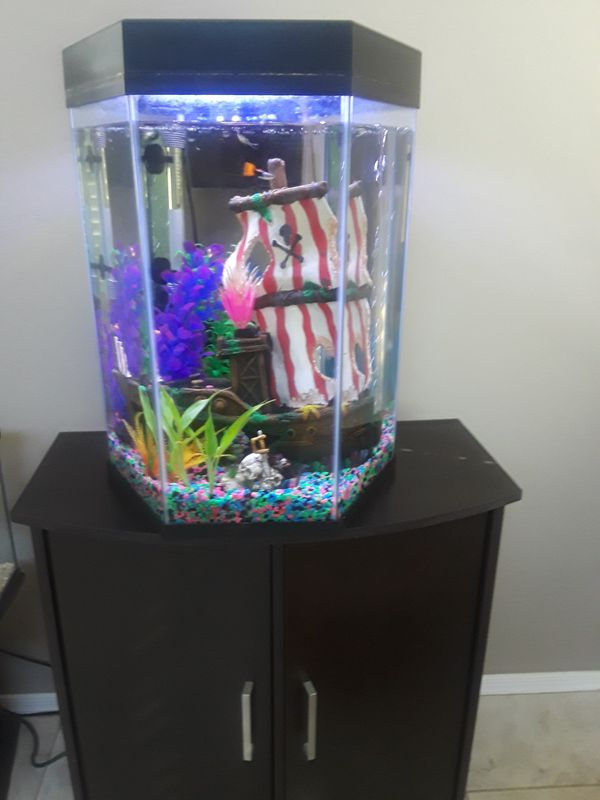 Fish tanks and stands.
