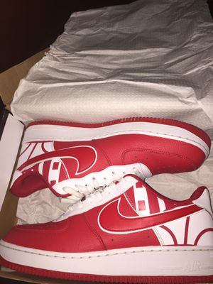 Nike Air Force 1 low men's size 12 university red with box 80$ for Sale in Tampa, FL