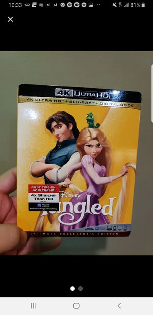 Tangled 4k blu ray combo brand new sealed with slip cover for Sale in Buena Park, CA