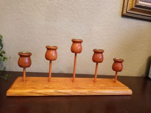 Vintage wood candelabra for Sale in Seattle, WA