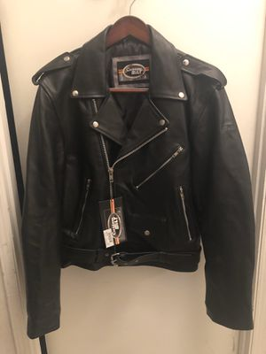 Brand new leather motor cycle jacket. Retails for $289. Size large for Sale in Vacaville, CA