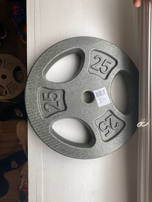 CAP barbell standard 1 inch grip weight plates, single, gray, 25lb for Sale in Pittsburgh, PA