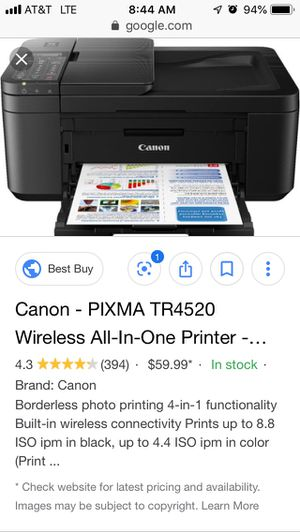 Canon all in one printer wireless for Sale in Killeen, TX