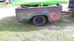 61 Ford truck bed trailer awesome patina needs right side hub before you pull off with it or i might fix it myself idk yet for Sale in Quitman, TX