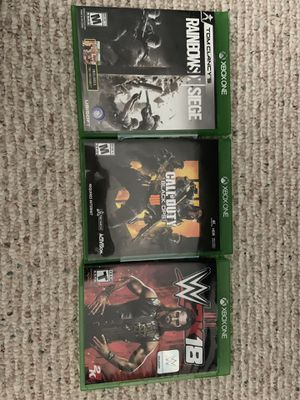 Black Ops 4/Rainbow Six Siege/WWE 2K18 Xbox One for Sale in Bristow, VA