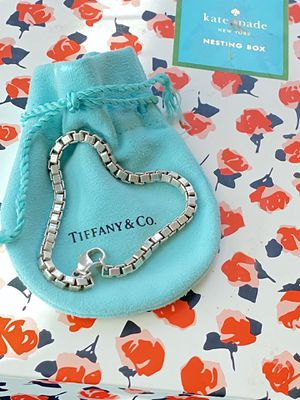 "Tiffany's and Co Bracelet Authentic Sterling Silver ""Venetian Chain"" for Sale in Greenville, SC"