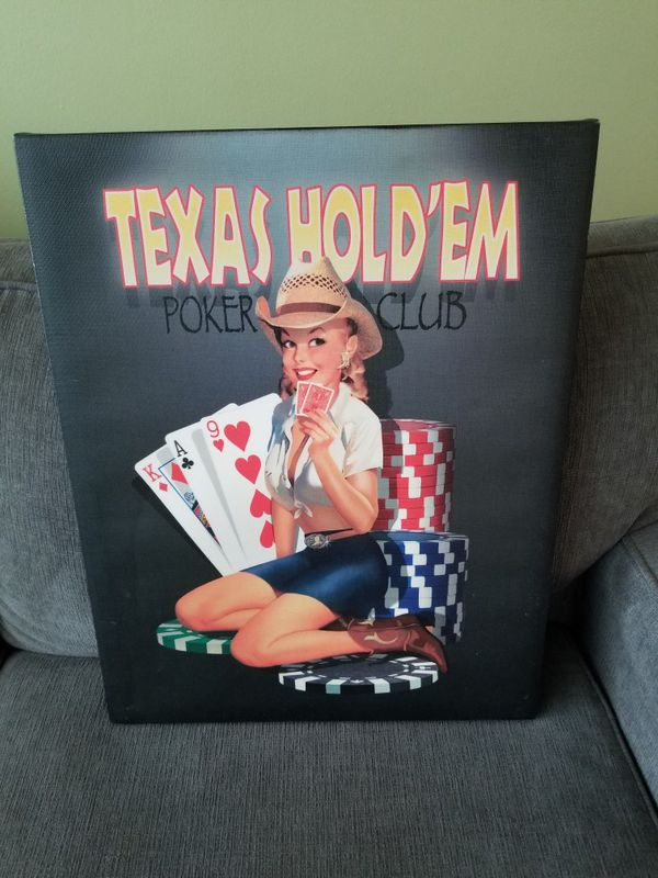 Texas Hold'em Poster Sexy Girl