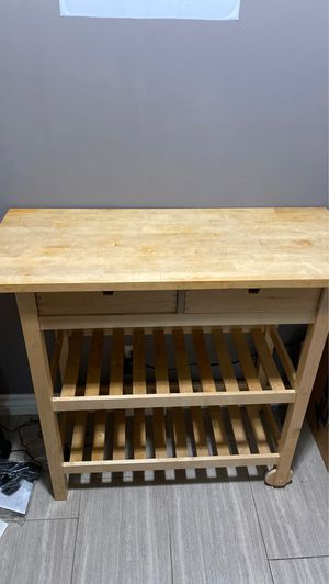 Kitchen island with heavy duty cutting board for Sale in Lawndale, CA