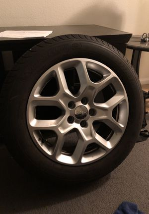 Jeep renegade rims and tires Like new great tread for Sale in Nashville, TN