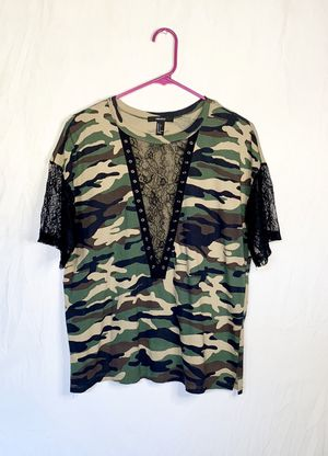 Plunge neck camo shirt for Sale in Los Angeles, CA