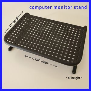 Computer Monitor Stand Riser (vented black metal) for Sale in Land O' Lakes, FL