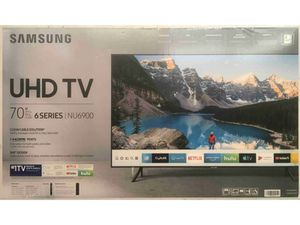 """SAMSUNG 70"""" Class 4K UHD (2160p) LED Smart TV with HDR (UN70NU6900FXZA) for Sale in Gastonia, NC"""