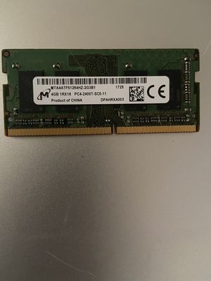 4GB Memory card for Laptop PC for Sale in St. Petersburg, FL