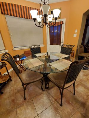 Living room sofas, breakfast table with chairs, and twin bed with mattress for Sale in Stafford, TX