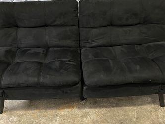 $100 Mainstays Memory Foam Futon, Black Suede for Sale in Decatur,  GA