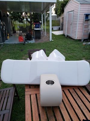 Boat cushions(3 backrest),1 cupholder. for Sale in North Miami Beach, FL