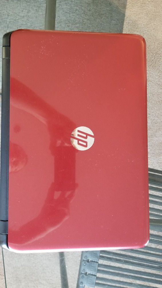 HP 15-F272WM Red Laptop / Notebook w/ DVD-RW Drive & More!